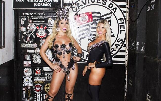 Irmãs Minerato em ensaio na Gaviões da Fiel