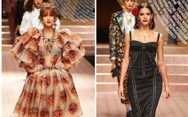 Marina Ruy Barbosa e Bruna Marquezine desfilam na Semana de Moda de Milão