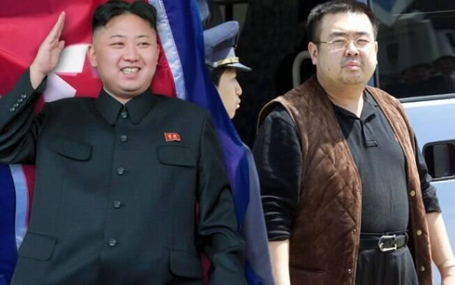 Kim Jong-nam (dir), irmão do líder coreano Kim Jong-un (esq), foi envenenado por duas mulheres em um aeroporto