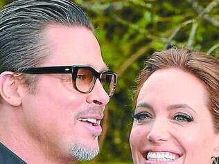 """Filme. Brad Pitt tem acompanhado a esposa em lançamentos do filme """"Malévola"""""""