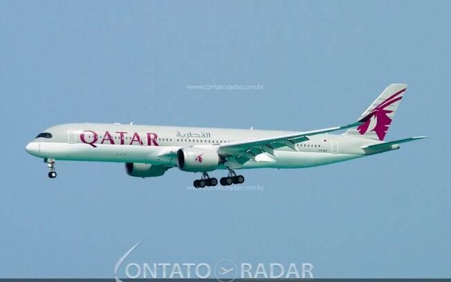 Qatar identifica fissuras no Airbus A350 durante processo de pintura