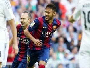 Neymar chegou ao Barcelona em 2013 saindo do Santos
