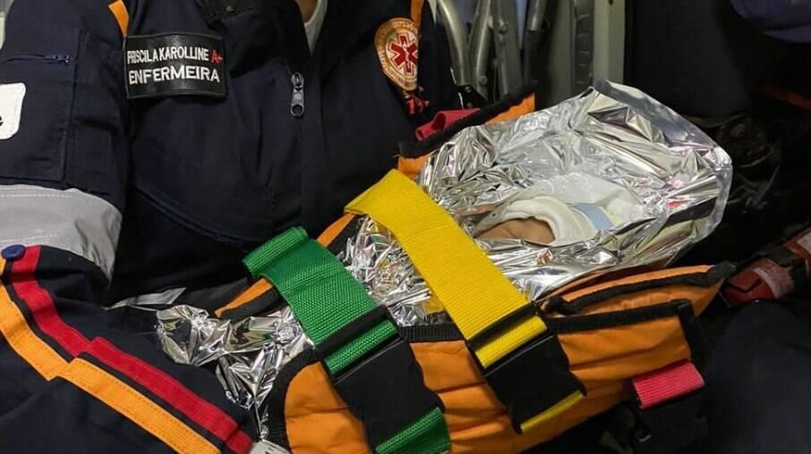 Recém-nascido é resgatado