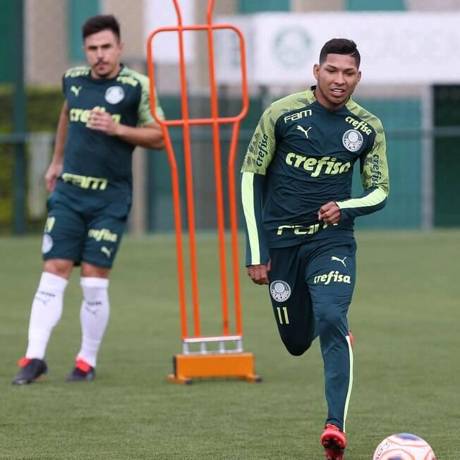 Palmeiras voltou aos treinamentos com bola