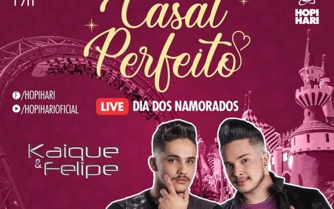 Kaique e Felipe fazem live para os namorados