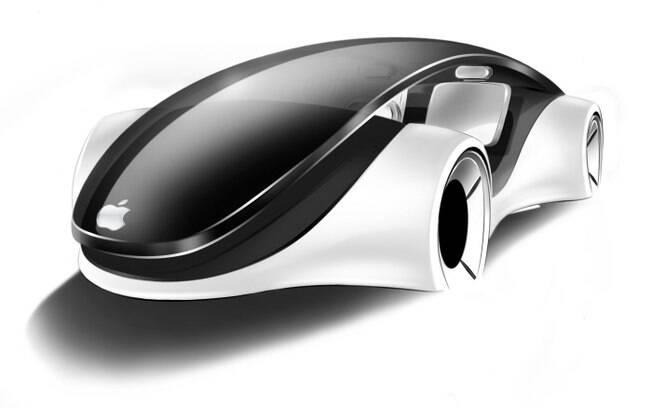 Conceito do Apple iCar criado pelo designer Franco Grassi.