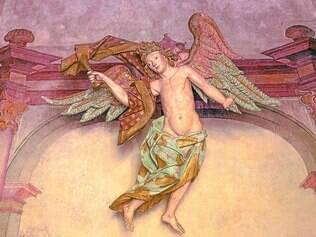 """Obra. Com 1,70 metro de altura, """"O Anjo da Amargura"""" é uma das principais obras de Aleijadinho e está localizado em Congonhas"""