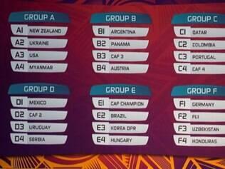 Brasil caiu no grupo E, com adversários menos tradicionais