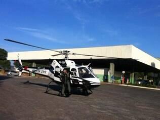 Helicóptero da corporação foi usado na ação de combate ao tráfico de drogas