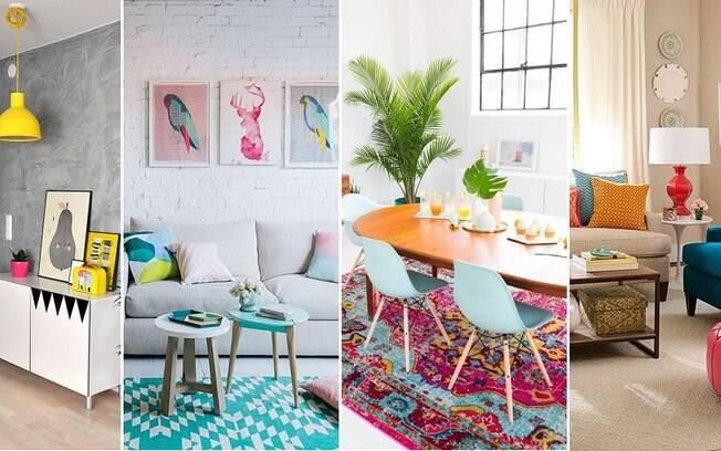 Quem não curte ambientes muito chamativos pode incorporar toques de cor em detalhes da decoração