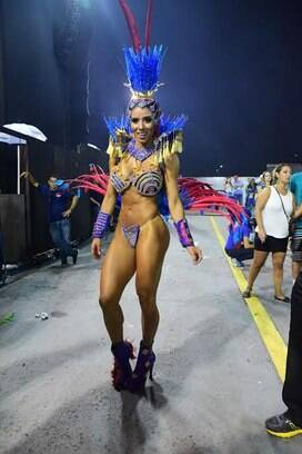 A Ex-panicat Thaiz Bianca. Foto: Leo Franco / AgNews