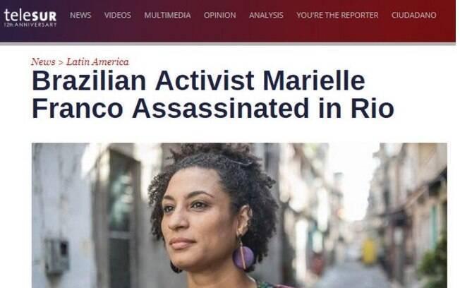 Representante do movimento negro e feminista, Marielle Franco teve sua morte repercutida pela mídia internacional