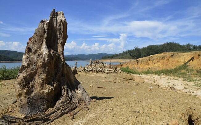 Represa Atibainha, em janeiro de 2015. Foto: Futura Press