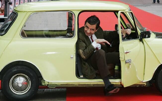 Rowan Atkinson como seu personagem mais famoso, o Mr. Bean, em foto de 2007