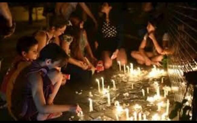Foto compartilhada por Fátima Bernardes sobre o massacre de Suzano, em São Paulo