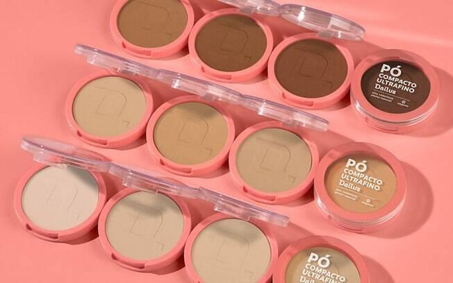 A marca tem 12 opções de cores, contemplando das peles mais claras às mais retintas