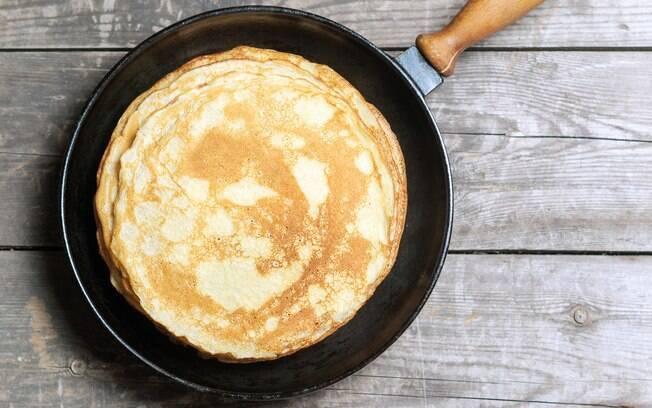panquecas, omeletes e ovos