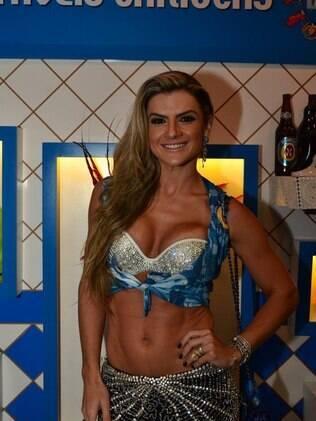 Mirella Santos no camarote da Boa