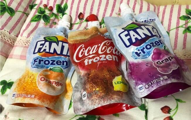 Além da Coca-Cola Frozen, empresa anunciou também o lançamento das raspadinhas da Fanta nos sabores uva e laranja