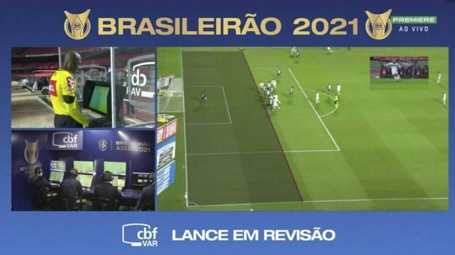 Gol anulado no jogo de São Paulo x Palmeiras