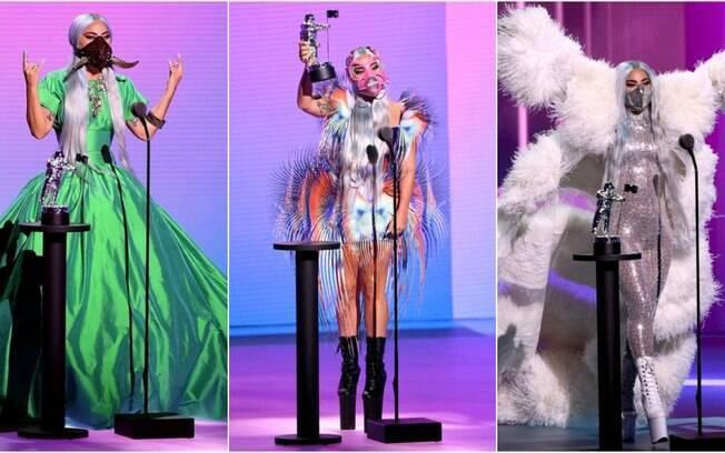 Lady Gaga soube como aproveitar as máscaras para criar composições divertidas e ousadas