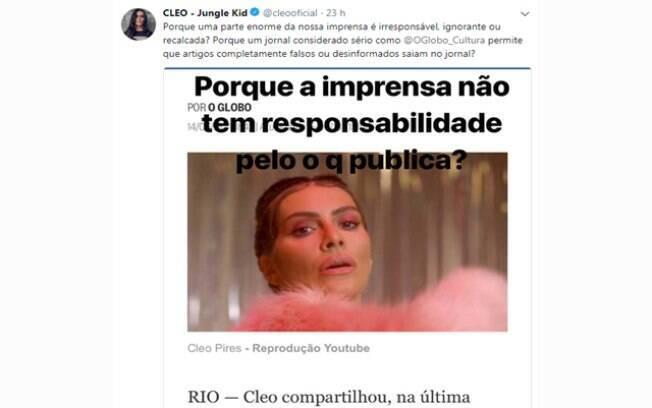 Cleo critica fake news