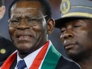 Teodoro Obiang Nguema, presidente da Guiné Equatorial