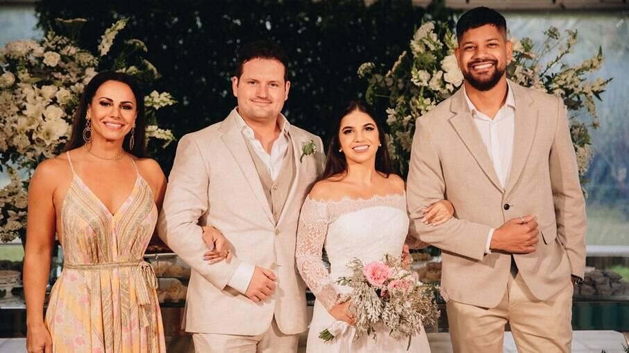 Viviane Araújo, Daniel Roveda, Natália Soutto e Guilherme Militão