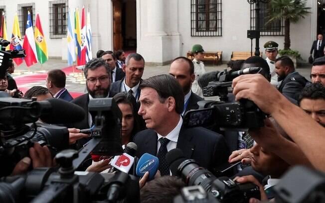 Em viagem ao Chile, Bolsonaro garantiu: