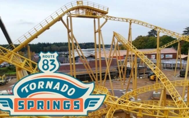 Imagem promocional da atração Tornado Springs.