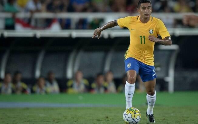 Dudu em sua última convocação para a seleção brasileira