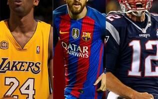 Kobe, Messi ou Tom Brady? Quem é o maior esportista de todos os tempos?