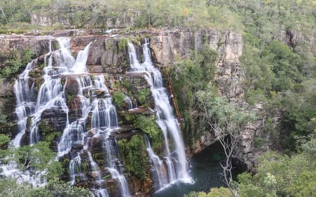 Rapel nas Cachoeiras Almécegas - 45 metros adrenalina pura.