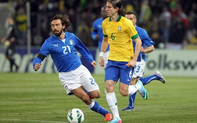 Filipe Luís faz a sua estreia pelo Brasil com  o comando de Felipão