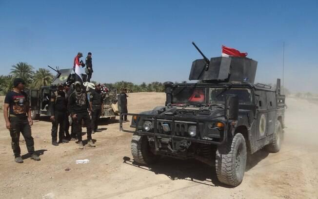 Tropas americanas entram no Iraque
