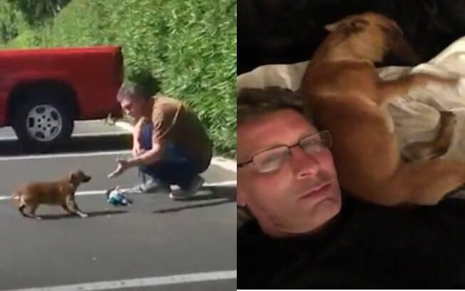 Homem conquista cachorrinha