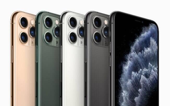 Os iPhone 11 Pro têm cores mais sérias.