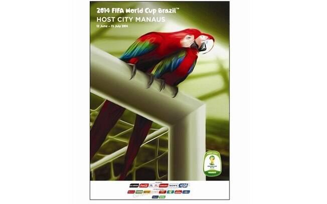 Manaus-AM - Pôster oficial da Copa do Mundo  de 2014