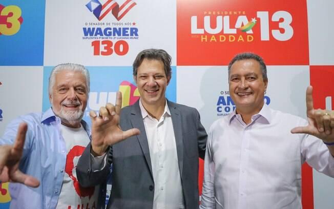 Rui Costa (direita) ganha força para substituir Fernando Haddad como candidato do PT em 2022