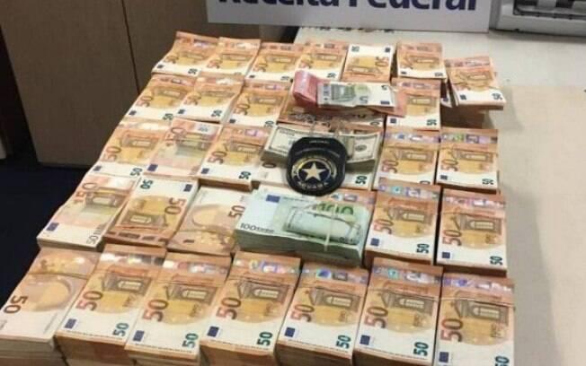 Quantia estava escondida em mala; questionado, homem não soube dizer origem do dinheiro