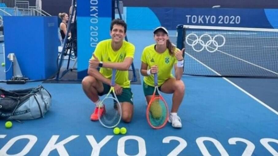Luisa Stefani e Melo perdem para Djokovic nas mistas em Tóquio