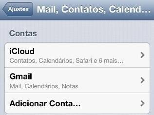 Sincronização com Gmail no iPhone