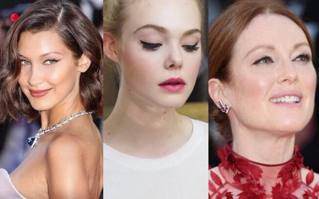 Foram vistas no tapete vermelho do Festival de Cannes celebridades como Julianne Moore, Elle Fanning e Bella Hadid