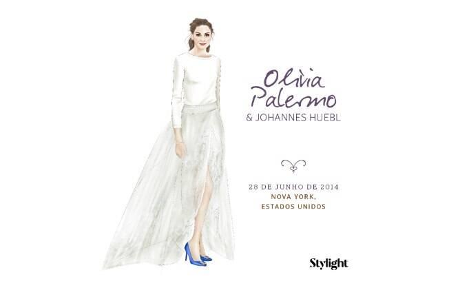 Vestido de noiva: Olivia Palermo