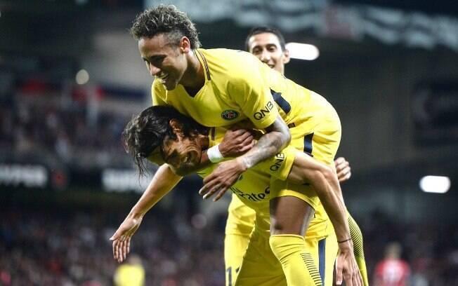 Neymar fez sua estreia com a camisa do PSG diante do Guingamp, em jogo válido pela 2ª rodada do Francês