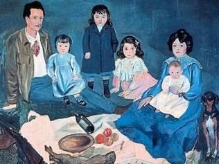 """Simbolismo. """"La Famille"""" é a obra escolhida por Marina para ser a primeira a ser excluída de sua vida"""