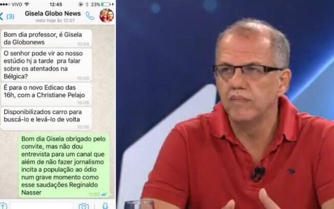 Reginaldo Nasser critica a Globo News