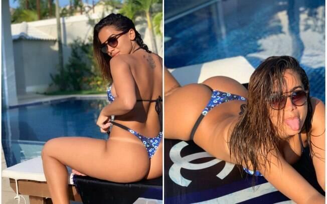 Anitta compartilha foto de biquíni