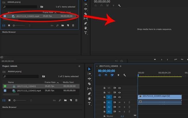 Clique no ícone do seu vídeo, situado na esquerda inferior da tela, clique e arraste até o canto à direita, conforme mostra a imagem