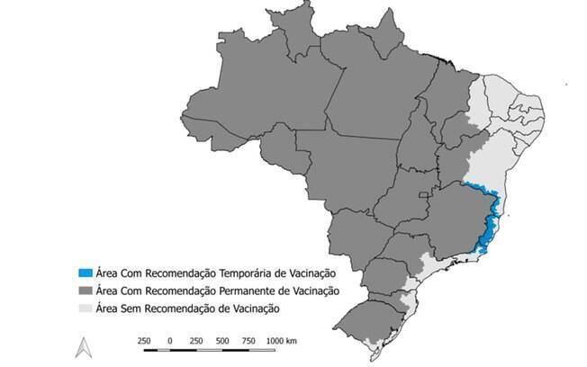 Área de recomendação para a vacina contra a febre amarela vai da Região Norte ao Sul do País, alerta o Ministério da Saúde